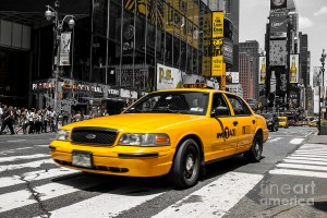 Random New York yellow Cab