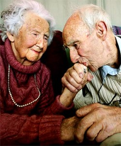 In love?  Or OAP arm wrestling?