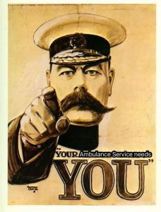"Your ""insert relevant country/county of orgin here"" Ambulance Service needs you"